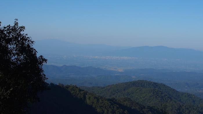 View over Chiang Mai. Ban Mae Kampong.